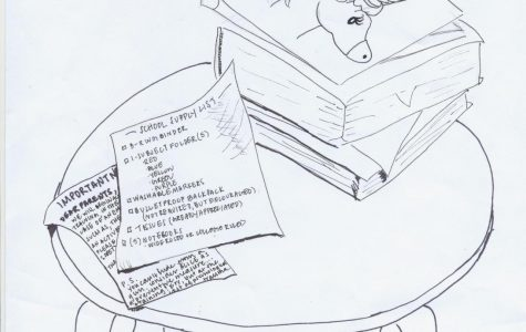 Editorial cartoon: School Supply List