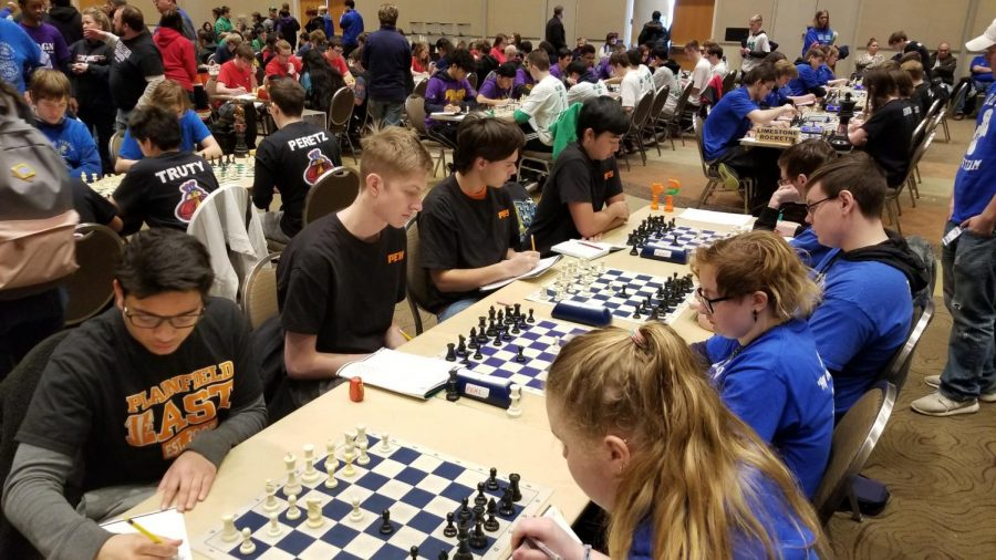 Chess team competes