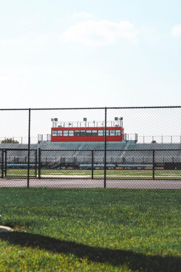 The Plainfield East football stands now left abandoned as times bring different Friday night measures. Due to the COVID-19 outbreak still lingering, Friday night lights continue the delay. Football has been postponed until spring.  - Adam Jackson