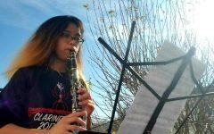 Staff writer and clarinetist Mikaela Ramirez (senior) plays the provided piece,