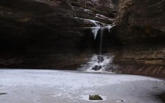 An icy waterfall pours over the brink of a canyon on a snowy January day at Matthiessen State Park, Utica. The experience of hiking in the winter time may seem, on occasion, drastically different from the same happening during warmer times - though the sentiment of enjoying nature in the cold, and in a way one may not be used to, opens new opportunities to find the true beauty in nature, no matter the season.